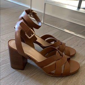 ALDO Cognac Ankle Strap Sandal, 8